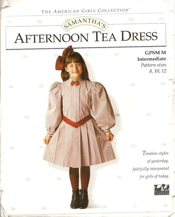 American Girls Collection CHILDS Dress Sewing Pattern Samanthas Afternoon Tea Dress Pleasant Company Extremely RARE UNCUT
