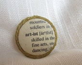 "Literary Pin/Brooch  ""Artist"""