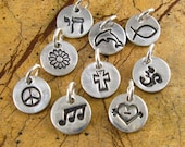 Add A Charm Personalized Silver Charms Soccer Ball Charm Om Charm Chai Charm Music Charm Peace Sign