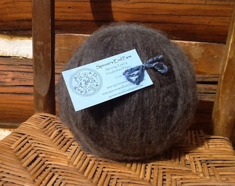 Dark Steel Grey Shetland Wool Roving 4 ounces