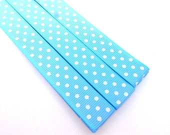 Pattern Magnet - Chart Keeper Magnetic Bookmark - Knitting Crochet Supplies Tools - Set of 3 - Light Blue Polka Dots
