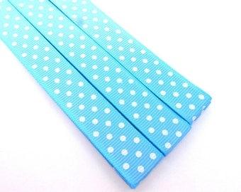 Pattern Magnet - Chart Keeper Magnetic Bookmark - Knitting Crochet Supplies Tools - Set of 3 - Light Blue Polka Dots