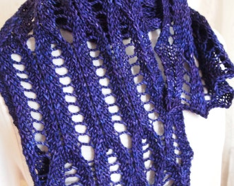Instant Download pdf Hand Knitting Pattern  - Drops Scarf