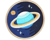 Galaxy Planets Iron On Patch