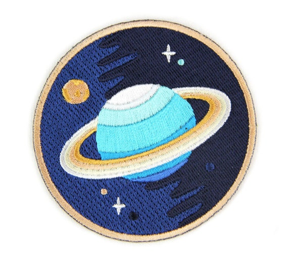 Galaxy planet iron on patch for Fabric planet