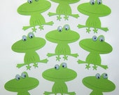 Frog, Tree Toad, Leapfrog, Hoppers, Green, Prince Charming, Paper Piecings, Scrapbooking, Card Toppers, Party Decor, Favor Tags, Classroom