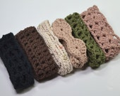 Crochet Women Headbands Cotton Adjustable Hair Bands You Choose Colors and Styles