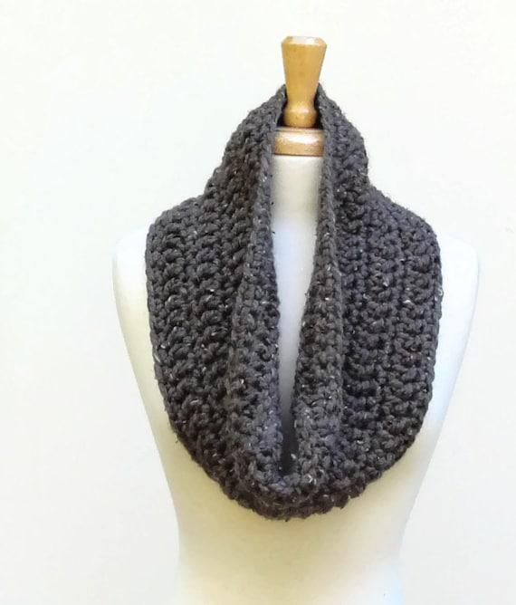 Chunky Cowl Scarf, Crochet Bulky Cowl, Unisex, Color Choices