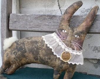 Hippity Hoppity A Primitive Folk Art Spring And Easter Shelf Sitter Doll