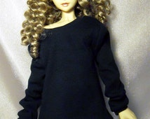 Navy blue baggy sweatshirt for SD, Lishe, 1/3 bjd DOLL