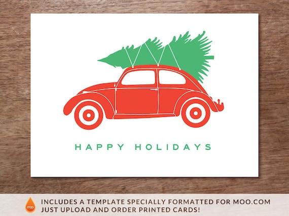 Weihnachtskarte vorlage weihnachts vw k fer - Vorlage weihnachtskarte ...