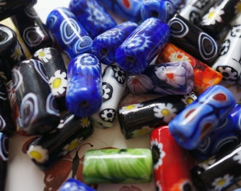 Assorted Millifiori Focal Beads - 3 pcs