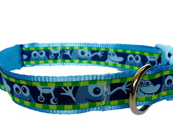 Little Monster Dog Collar Custom Adjustable in Extra Small, Small, Medium or Large