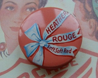 Reserved and sold to Kaitlin Antique  Heather Rouge in Gorgeous Tin