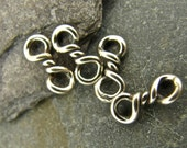 Twist Sterling  Links - Sterling Silver Connectors - Four Pieces - lt4q
