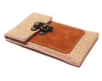 Smartphone wallet - orange and cream