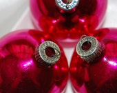 Vintage Shiny Brite pink Christmas holiday tree ornaments box of 12