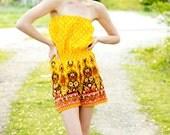 Gold Boho Shorts Romper, Sm