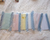 One yard each of Six VINTAGE Pastel Laces from NOS free worldwide shipping Make something beautiful from something old its all the rage