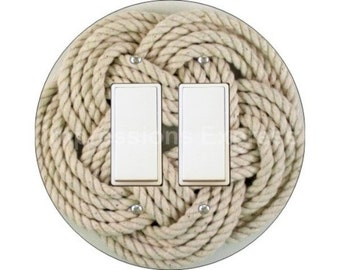 Turk's Head Knot Nautical Decora Double Rocker Switch Plate Cover