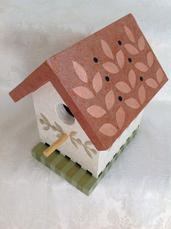 Birdhouse, Hand Painted in a Whimsical Style