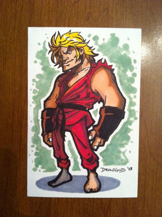 "Ken Marker Sketch Card - 4""x6"""