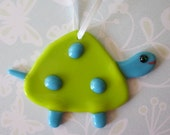 Turtle Ornament Fused glass