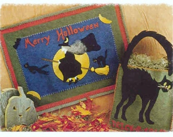Merry Halloween Wallhanging & Trick-r-Treat Bag Pattern