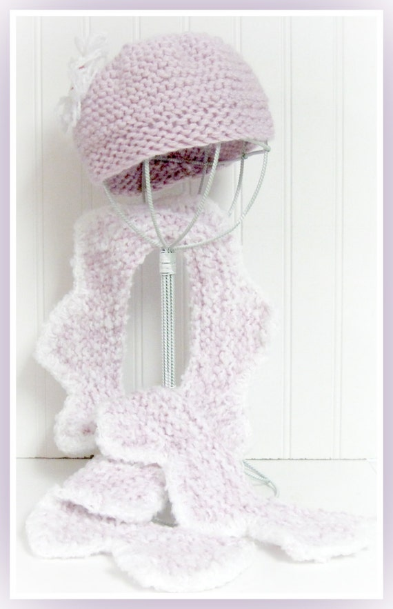 Toddler to Teen Knitted  Whipped Cream Scarf and Tam   Pattern