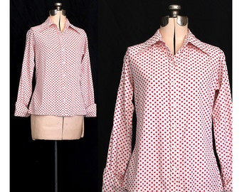 Vintage 60s It Girl Blouse Large XL