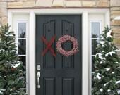 XL Wreath, XO Wreath, Wreaths, Hugs and Kisses, Wedding Wreaths, Wreath Original, Valentine Wreath, Door Wreaths, Red and Pink Decor