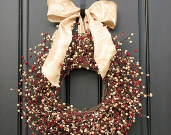 Christmas Berry Wreaths - Home and Living - Front Door Wreaths - Holiday Decor - Berry Christmas