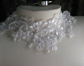 WHITE Beaded Lace Applique for Lyrical Dance, Bridal, Headbands, Costume Design WA 751