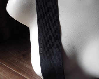 "2 yds. Black Elastic 2"" wide  for Belts, Waistbands, Costume Design"
