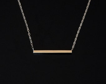 14kt Solid Gold Bar Necklace Cameron Diaz - Audrina Patridge