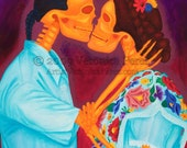 El Beso: Print / Photo reproduction of original acrylic painting (11x14in)