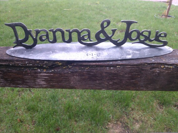 Iron Wedding Anniversary Gift: Your Names Written In Iron Personalized Wedding By
