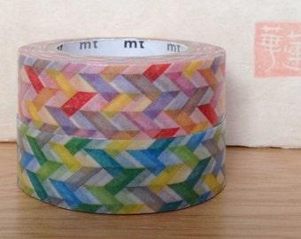 mt washi masking tape - NEW -  slash - red and green