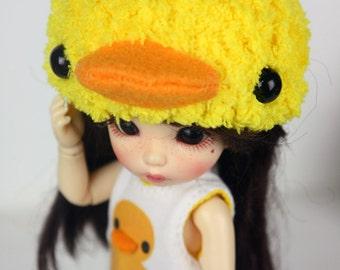 Lati yellow / Pukifee  Duck crochet hat