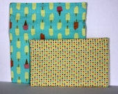 Reusable cloth sandwich and snack bag set- popsicles