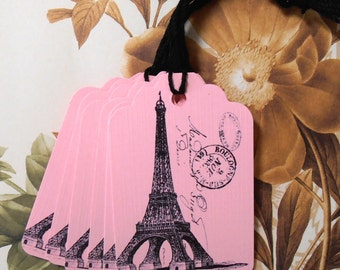 Tags Eiffel Tower Gift Tags Price Tags Eiffel Tower Paris party Favor T013