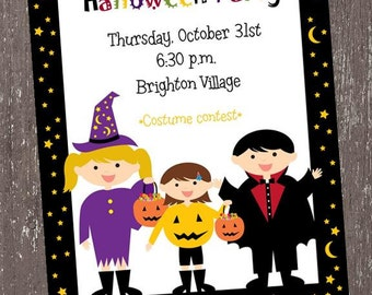 Halloween Trick or Treat Invitation - 1.00 each with envelope