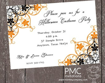 Halloween Invitation - 1.00 each with envelope
