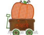 Machine Embroidery Design Applique Pumpkin Wagon 2 INSTANT DOWNLOAD