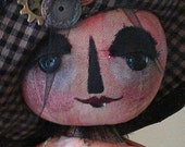 Miss Tyrius, Original Primitive Doll Pattern, PDF version