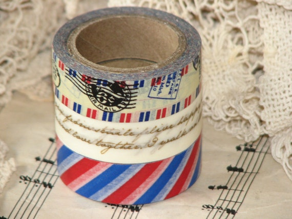 Limited Edition Postal Themed Washi Tape Set