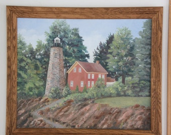 It's time to reduce my inventory! Beautiful oil painting of the Charlotte Lighthouse is now less than half of the original price!