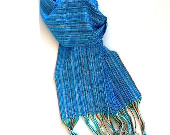Handwoven Cotton Winter Scarf - Neck Warmer