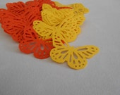 Reserved for cinderladylocket Monarch Butterfly Embellishments Hand Punch Orange and Yellow Set of 150