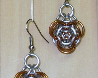Two Tone Rosette Earrings